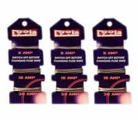 3 X CONSUMER FUSE WIRE CARD 5A 5AMP 15A 15AMP 30A 30AMP DOMESTIC CARDED FUSEWIRE